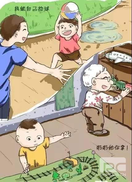 妈妈带娃和老人带娃对比